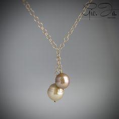 Walnut/Copper Baroque Pearls Necklace