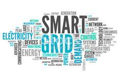 Quadrillage, Intelligence, Industrie, Électricité, Technologie Photo libre de droits