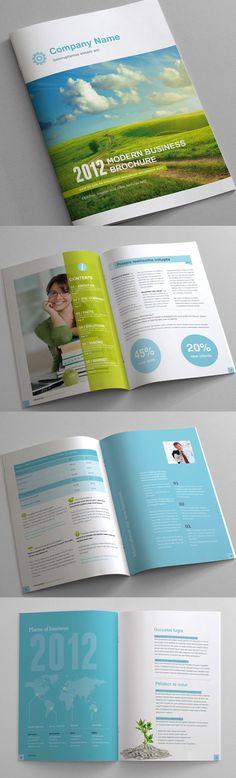 12 page Business Brochure clean style by Andrea Maisenbacher, via Behance