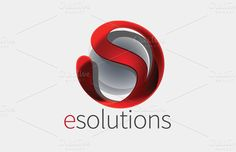 E solutions Logo by Angry Pen on @creativemarket