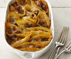 Stuffed Shells with Bolognese Sauce