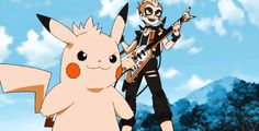 Pokemon gif : The best rock stars in the planet! Pokemon Gif, Pokemon Funny, Pokemon Memes, Pikachu Raichu, Anime Gifts, Pokemon Pictures, Best Rock, Catch Em All, Manga