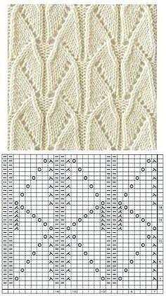 Crochet Stitches Chart, Knitting Charts, Knitting Stitches, Knitting Machine Patterns, Lace Knitting Patterns, Stitch Patterns, Creations, Couture, Diy Crochet