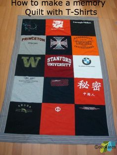 How to recycle t-shirts to make a memory quilt - Dr. Karen S. Lee