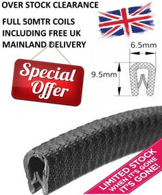 Small BLACK rubber car edge trim - Over stock clearance special on coils Stock Clearance, Retail Packaging, Black Rubber, Conditioner, How To Apply, Ebay