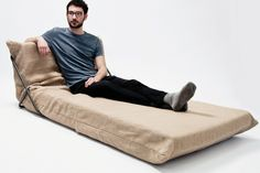 It's a simple system helping people to make a sofa or a dormette frome their own latex mattress.photoed by Biwei Panmodeled by Hugo Dabin Sofa Layout, Sofa Design, Interior Design, Sofa Furniture, Furniture Design, Building Furniture, Apartment Needs, Unique Sofas, Transforming Furniture