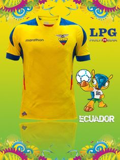 Camiseta de la selección de Ecuador en el mundial #Brasil2014