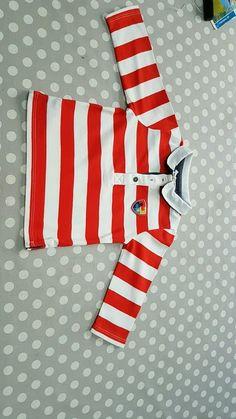Polo enfant garçon DPAM rouge et blanc neuf idéal cadeau naissance