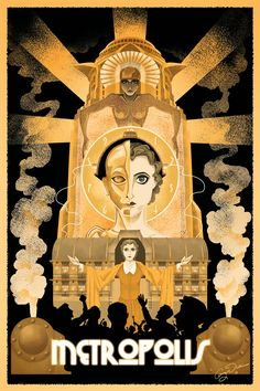 Movie poster for 'Metropolis'.