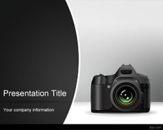 Photo camera PowerPoint template with camera image