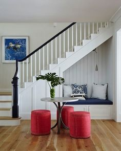 Home Stairs Design, Home Interior Design, House Design, Interior Design Under Stairs, Stair Design, Staircase Storage, Stair Storage, Basement Stairs, House Stairs