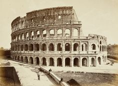 Colosseo 1860 Ancient Ruins, Ancient Rome, Ancient History, Grey Wallpaper Iphone, Romulus And Remus, Roman History, Old Photos, Vintage Photos, Historical Architecture
