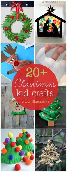 20+ Christmas Kid DIY Crafts! This will definitely keep them busy having fun during the holiday break.