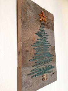 Árbol de Navidad de arte de la cadena por ConwayCraftings en Etsy