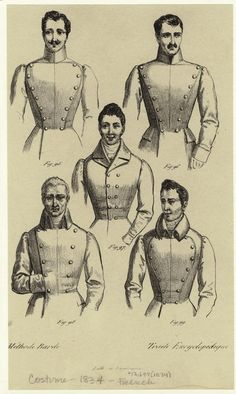 [Men's coats, France, 1830s.] Men -- Clothing & dress -- France -- 1830-1839