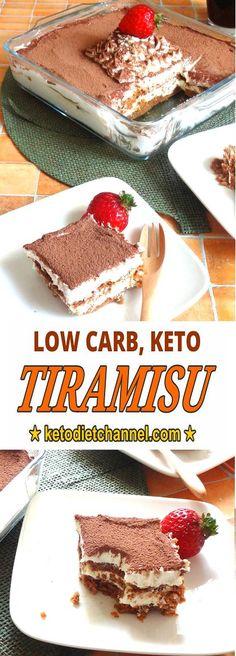 Tiramisu - Keto, Low Carb, Gluten Free, Sugar Free