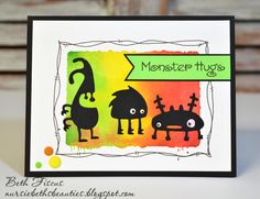 Hello all! Today I have a card that was simply FUN to create! I used a technique I saw Jennifer McGuire post with Distress Inks and I tr...