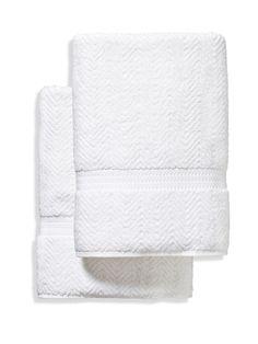 Linum Home Textiles Herringbone Bath Towels (Set of 2)