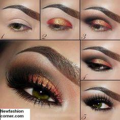Shimmer Eye Makeup Idea for Women..my fav!!