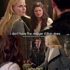 """""""I've wanted to kill the dark one for hundreds of years. I think I'd remember holding his dagger."""" #OUAT"""