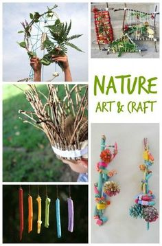Appreciate Nature with these Kids Art and Craft Ideas. Perfect for summer camp, outdoors or post nature walk!