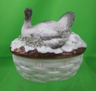 Staffordshire Covered Turkey on Feathered Nest