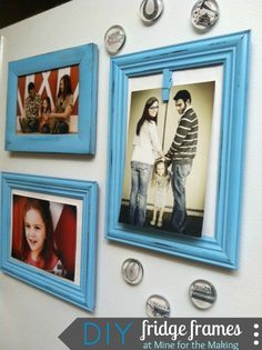 DIY Fridge Frames {tutorial} from @Kara Morehouse Morehouse Rodgerson - part of the Workshop Wednesday series!
