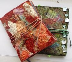 Rosemarie Smith textile artist sketchbooks experimental fabrics dyed fabrics