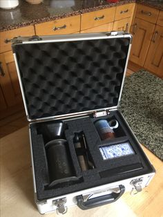 Travel Aeropress case Aeropress Porlex hand grinder Nordal Denmark Mug Ascher Scales Probe Thermometer Bean Caddy