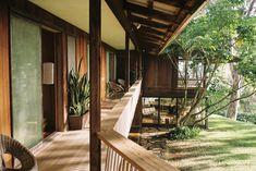 The Liljestrand House, Oahu - ChasingKendall Image Sites, Hawaii Homes, Oahu, Honolulu Hawaii, Modern Chairs, House Tours, Mid-century Modern, Entrance, Architecture Design