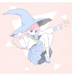#Chibi #MangaGirl #witch #schoolgirl