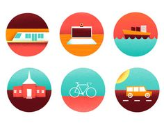 Discover more of the best Icons, Icon, Illustration, and Color inspiration on Designspiration Flat Design Icons, Icon Design, Creative Box, Creative Design, Map Icons, Vector Icons, Baby Icon, Best Icons, Ui Design Inspiration