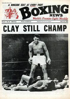 Boxing News 1965 - Clay (Muhammad Ali) still champ Muhammad Ali Boxing, Muhammad Ali Quotes, Mohamed Ali, Tyler Durden, Dojo, Karate, Combat Boxe, Boxing Posters, Boxing History