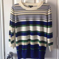 Jcrew striped Tippi sweater Multi color striped Tippi Sweater from Jcrew. Excellent condition J. Crew Sweaters