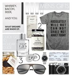 """Mens Gifts"" by cutandpaste ❤ liked on Polyvore featuring moda, R.H. Macy & Co., Lenox, Bulova, Giorgio Armani, Breed, Molton Brown, giftguide e giftsforhim"