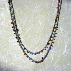 Caravan of Colours crochet necklace/bracelet <3