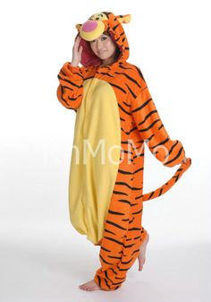 Winnie the Pooh is the adorable bear who has fun adventures with Piglet, Eeyore, Tigger and Christopher Robin. Find the best Winnie the Pooh costume ideas. Adult Onesie Pajamas, Pajama Romper, Fleece Pajamas, Pyjamas, Animal Pajamas, Disney Costumes, Cool Costumes, Adult Costumes, Cosplay Costumes