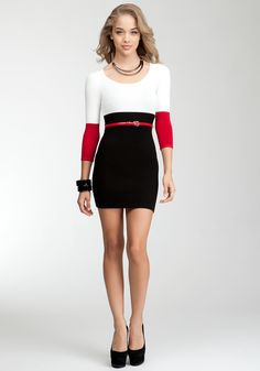 Shaped Colorblock Dress