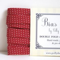 Red Polkas- 3 Yards Bias Tape from the Simple Collection