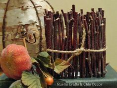 rustic branch candle holder craft by rustic-crafts.com