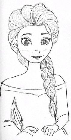 Elsa from Frozen, my tribute to the last wonderful Disney movie drawings. Elsa from Frozen, my tribute to the last wonderful Disney movie drawings Elsa from Frozen, Disney Drawings Sketches, Easy Disney Drawings, Frozen Drawings, Art Drawings Sketches Simple, Girl Drawing Sketches, Disney Princess Drawings, Girly Drawings, Easy Drawings, Drawing Ideas