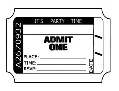 free printable ticket invitation for a party