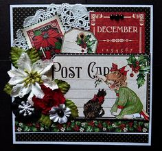 Graphic 45 Children's Hour Handmade Greeting Card December