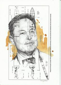 Elon Musk Inspiration Premium Framed Print 11x17Motivational Mars Art Piece