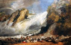 Joseph Mallord William Turner - Fall of the Rhine at Schaffhausen Boston Museum of Fine Arts Turner Falls, Turner Painting, Kunsthistorisches Museum, Boston Museums, Joseph Mallord William Turner, Watercolor Landscape Paintings, Oil Paintings, Watercolour, Social Art