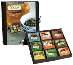 Numi Organic Tea, World of Tea Collection, Gift Set of Assorted Teas in a Bamboo Tea Chest - Cool Kitchen Gifts