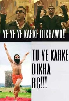 BabajiKaThullu7 : Ramdev Baba vs Yo yo honey singh....    very ...