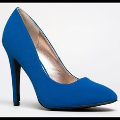 Qupid Blue Suede Pumps Brand New. Never Worn. Beautiful Color! No Trades. Qupid Shoes Sandals