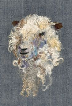 Sheep - Art In Textiles Sheep Paintings, Bob Ross Paintings, Animal Paintings, Needle Felted Animals, Felt Animals, Needle Felting, Baby Animals, Animal Art Projects, Recycled Art Projects