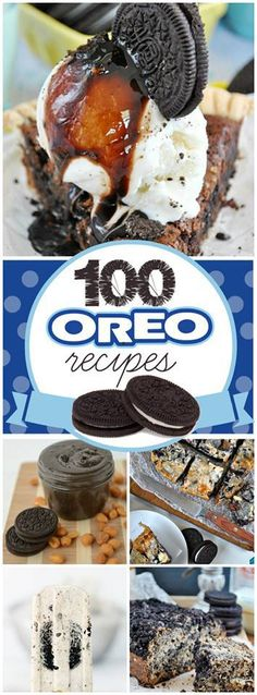 ️ 100 OREO DESSERTS ️ 100 Oreo Dessert Recipes because who doesn't like oreos?? You are  going to find so many delicious recipes here. Good luck finding just one favorite! RECIPE HERE~~…